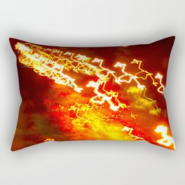 Brooklyn Lights, Fireworks, BedStuy, 4th of July Rectangular Pillow