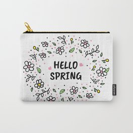 Hello Spring illustration Carry-All Pouch