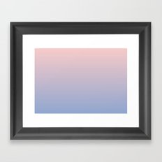 Ombre | Rose Quartz and Serenity | Pantone Colors of the Year 2016 Framed Art Print