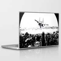 airplane Laptop & iPad Skins featuring airplane by Anand Brai