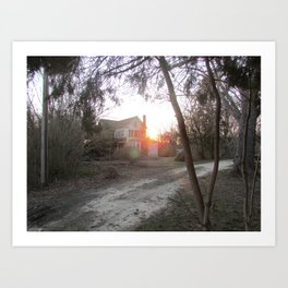 Abandoned House in Cape May Art Print