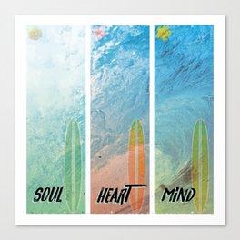 Pipeline - soul,heart,mind Canvas Print