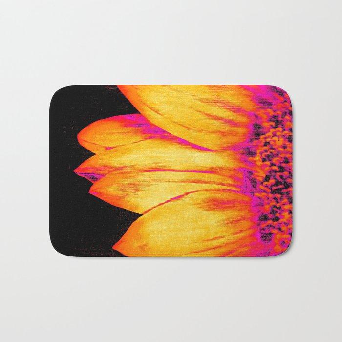 Sunflower Pink Yellow Bath Mat