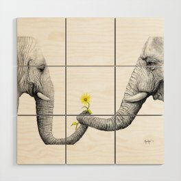 """Up Close You Are More Wrinkly Than I Remembered"" Wood Wall Art"