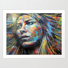 Colorful Street Art Portrait Art Print