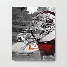 Basketball art swoosh vs 2 Metal Print