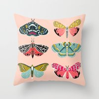 study Throw Pillows featuring Lepidoptery No. 1 by Andrea Lauren  by Andrea Lauren Design