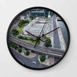 Custom House Dublin aerial view Wall Clock