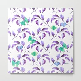 Passionately Purple Spring Time Daze - Bagaceous Metal Print