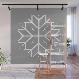 Snowflake - Silver Wall Mural