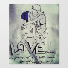 Love Freely Canvas Print