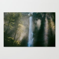 Enchanted Forest Waterfall Canvas Print