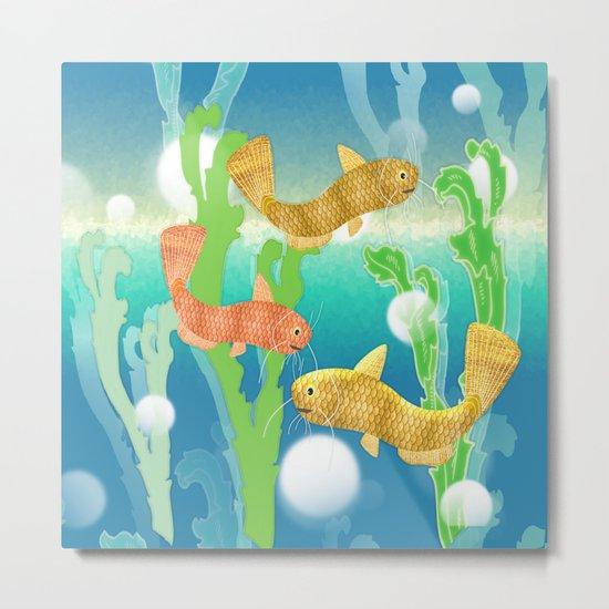 Toy Catfish Under the Sea Metal Print