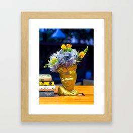 'Golden Girls' Floral Headvase Framed Art Print