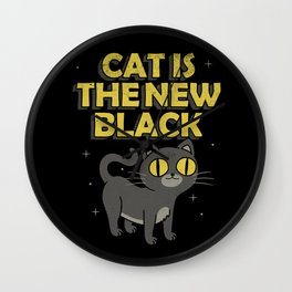Cat is the New Black Wall Clock