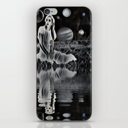 The Ghost of a Goddess, Ghostly Planetary Smoke of Dreams iPhone Skin