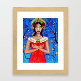 Divine mother. Framed Art Print