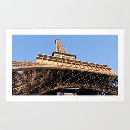 Structure of Eiffel Art Print