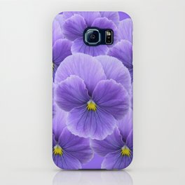 LILAC PURPLE SPRING PANSY FLOWERS ART iPhone Case