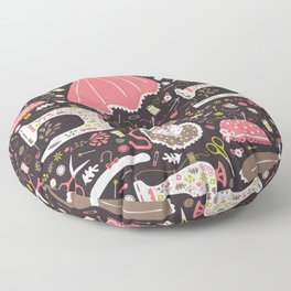 Vintage Sewing Floor Pillow