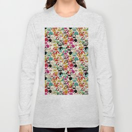 Colored  Easter bunny seamless pattern Long Sleeve T-shirt
