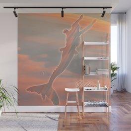 Jillian Pink Moon Mermaid Wall Mural
