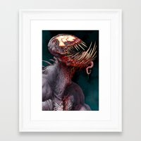venom Framed Art Prints featuring VENOM by The Art of Austen Mengler