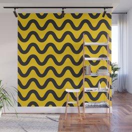 Yellow Ripple Wall Mural