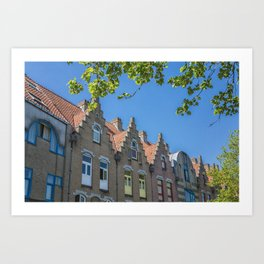 Bruges skyline Art Print