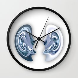 I'm all ears - Abstract illustration Wall Clock