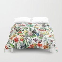 Adolphe Millot - Fleurs A - French vintage poster Duvet Cover