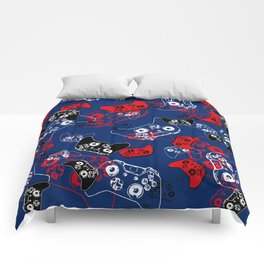 Video Game Red White & Blue 1 Comforters
