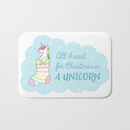All I want for Christmas is a Unicorn Bath Mat
