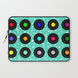 Old School Music (in Aqua) Laptop Sleeve