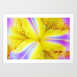 Retro Iris Art Print