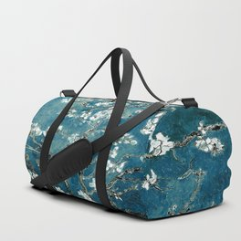 Van Gogh Almond Blossoms : Dark Teal Duffle Bag