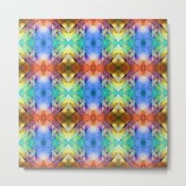 Mixed Media Abstract Pattern Metal Print