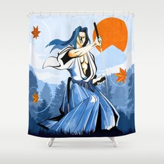 Fall maple leafs and Ukyo Shower Curtain