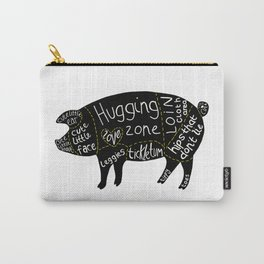 Cuts of Pig Carry-All Pouch