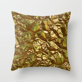 Fractured Gold Throw Pillow