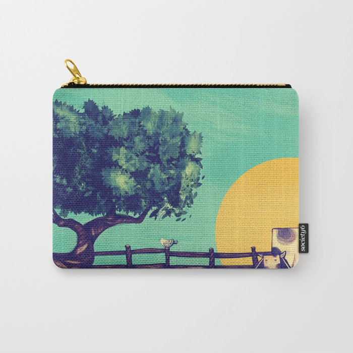 Cow Sunset Carry-All Pouch