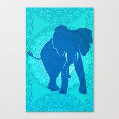 Turquoise Elephant  Canvas Print