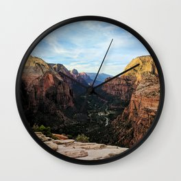 So High Only Angels Could Land There Wall Clock
