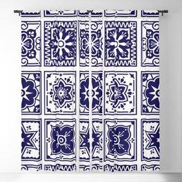 Talavera Mexican Tile – Porcelain Palette Blackout Curtain