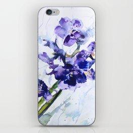 Deep Purple Orchids iPhone Skin