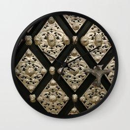 Old Door Ornament Wall Clock