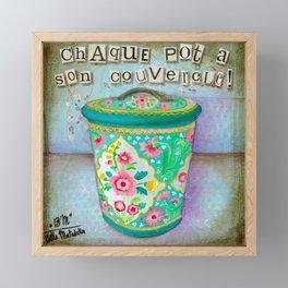 Chaque pot a son couvercle Framed Mini Art Print