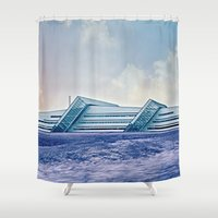 business Shower Curtains featuring Business by Truly Juel