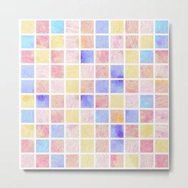 Watercolor Tiles #3 Metal Print