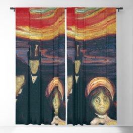 Edvard Munch - Anxiety Blackout Curtain